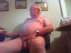 Grandpa on webcam - 2