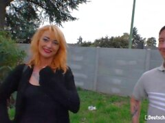 'DeutschlandReport - Hot Big Ass German Redhead MILF Hardcore Sex With Horny Stranger'