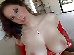 big tits blowjobs cum auf titten fishnet