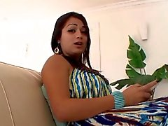 Curvy Latina riding dick 420
