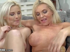 Sensual Stepmom-Stepdaughter Masturbation Afternoon - 21Sextreme