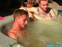 Ginger emo chilling in jacuzzi before masturbation