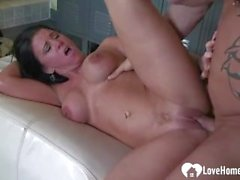 Horny slut loves to deepthroat before banging