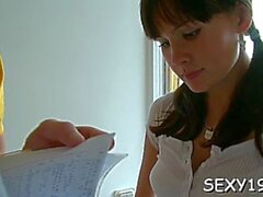 extraordinary russian brunette girlie cums on camera