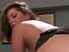 Sexy secretary gets drilled in hardcore fashion
