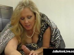 'Big Boobed Cougar Julia Ann Face & Titty Fucks A Lucky Cock