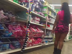 ghetto slut ass out in skirt