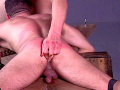 Slave Ian Greene Whipped & pulverized By yam-sized lollipop Muscle Master - BDSM Gay Bondage - dreamboybondage