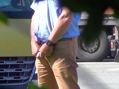 Great Compilation of Older Truckers Pissing in Public