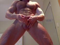 Veiny Muscle God Muscle Flex, JO & Cums!