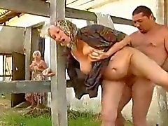 Hot Steamy Granny Sex on Farm