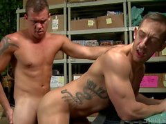 Big Dick Daddy Friends Make A Porno At Work