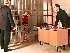 Sexy girl gets bondaged and fucked in jail