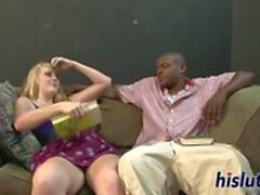 gotporn blond coq éjaculation interracial