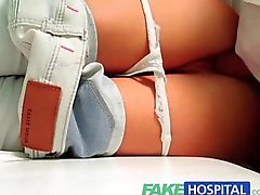 FakeHospital Hot Brunette Patient returns craving the doctors big cock