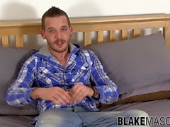 UK twink Brian Lost interviewed before masturbation