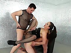 Bound bi stud gets jizzed