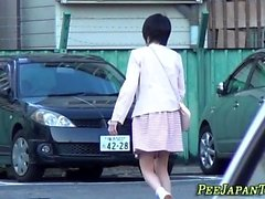 Japanese newbie urinating