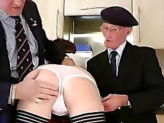 Amateur stockings brit threesome